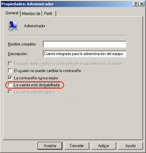 Habilitando el usuario administrador 3 Habilitar usuario administrador Windows 7